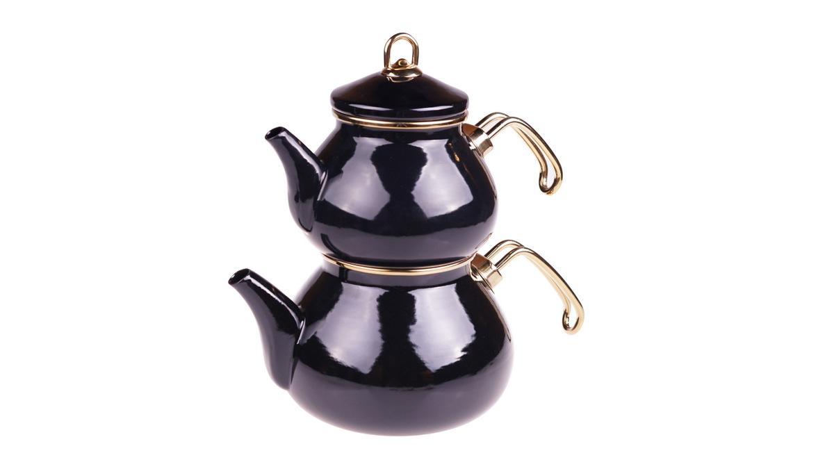 Beyzade Çaydanlık Takımı - Siyah Bambum