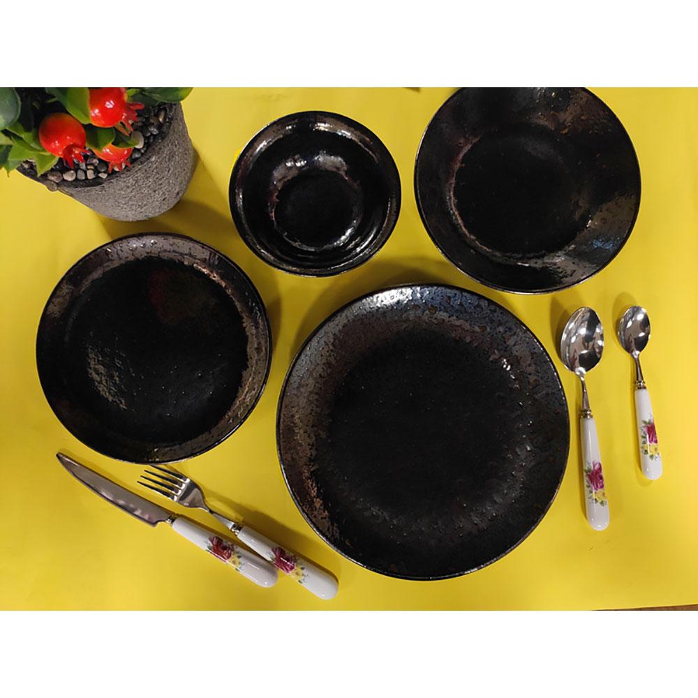 Black 6 Kşilik 24 Parça Yemek Takımı