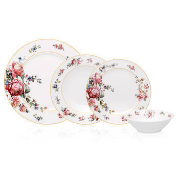 Blossom 6 Kişilik 24 Parça New Bone China Yemek Takımı - Thumbnail