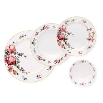 Biev - Blossom 6 Kişilik 24 Parça New Bone China Yemek Takımı (1)