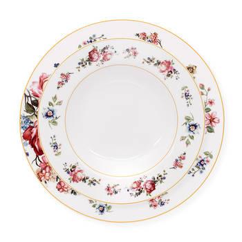 Blossom 6 Kişilik Çiçek Desenli Porselen Yemek Takımı - Thumbnail