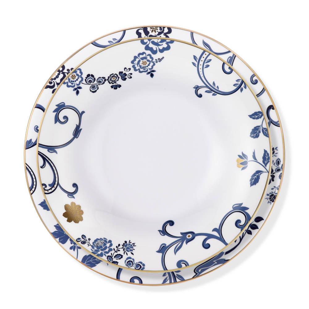 Blue Holly 12 Kişilik 70 Parça Royal Bone China Yemek Takımı
