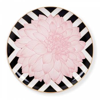 - Blume Servis Tabağı - Çizgili Pembe
