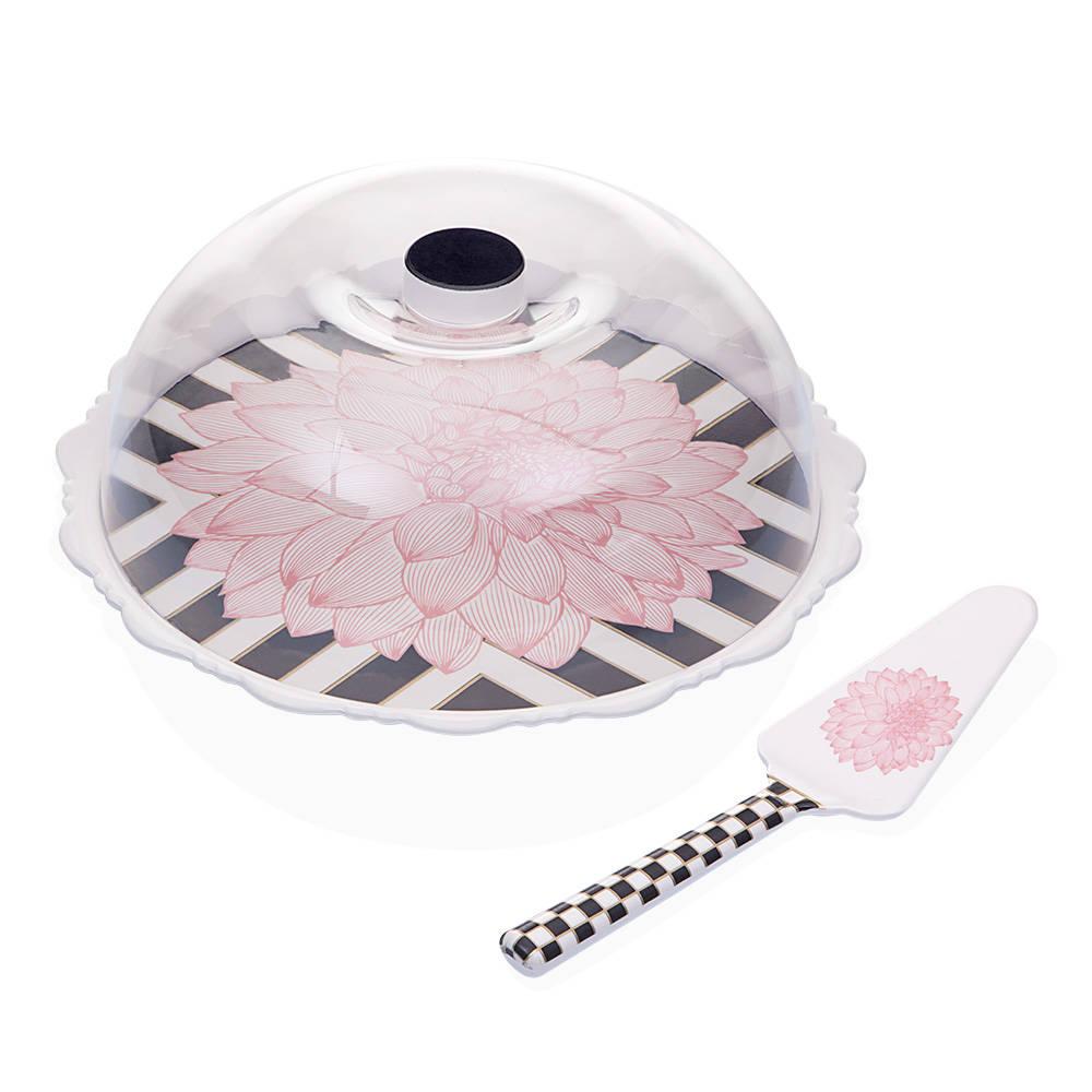 Blume Spatulalı Kek Fanusu - Pembe