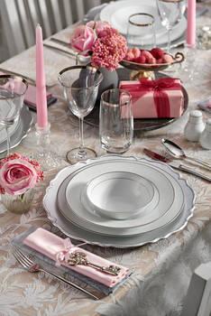 Bernardo - Bridal 12 Kişilik 57 Parça Porselen Yemek Takımı (1)