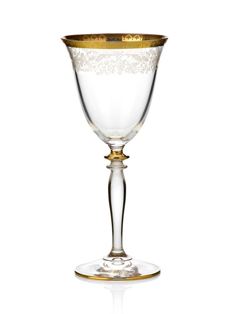 Bridal 12 Kişilik 25 Parça Cam Su Seti - Gold