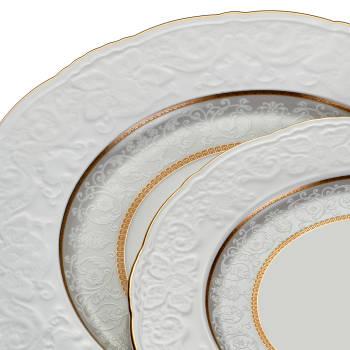 Brilliant 12 Kişilik 57 Parça Porselen Yemek Takımı - Thumbnail