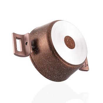 Browny 7 Parça Granit Tencere & Tava Seti - Bronz - Thumbnail