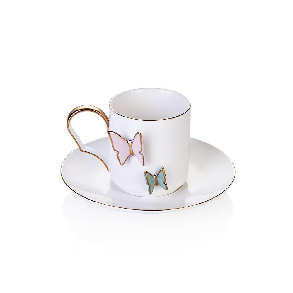Butterfly 6'lı Çay Fincanı