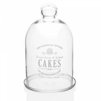 Cakes Kapaklı, Cam Kek & Pasta Fanusu - 32 cm - Thumbnail