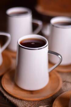 - Cappu 6 Kişilik Çay Takımı - Gümüş Yaldızlı Bambum