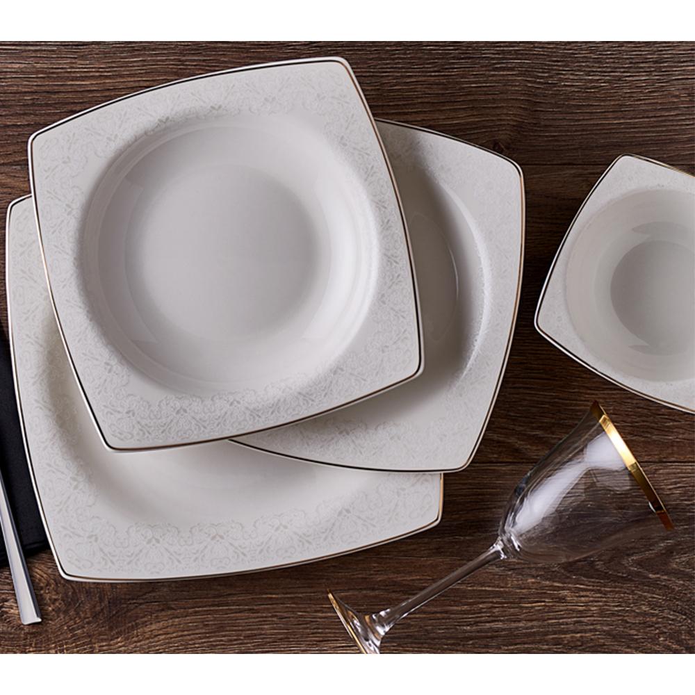 Carissa 12 Kişilik 53 Parça Bone China Yemek Takımı
