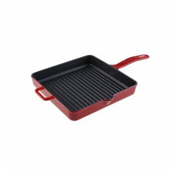 - Caste - Grill Tava Kırmızı 25 cm