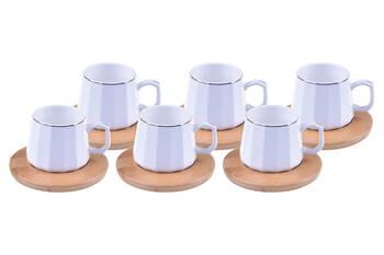 - Cebeci 6 Kişilik Kahve Fincan Takımı - Altın Yaldızlı Bambum