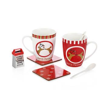 - Bernardo Christmas Mug Set- Kırmızı
