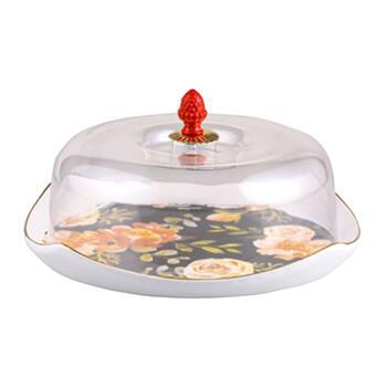 Biev - Çiçekli Kek Fanusu