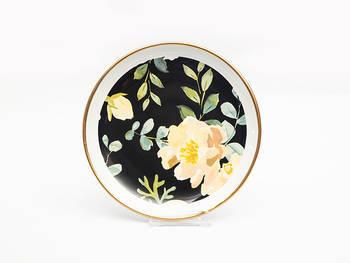 Çiçekli Yuvarlak Pasta Tabağı - Thumbnail