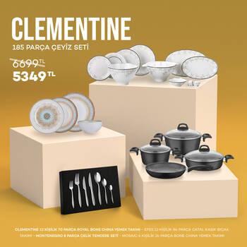 Clementine 185 Parça Çeyiz Seti - Thumbnail