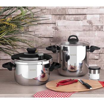 Bernardo - Cookfest Premium 4,5 lt. + 8 lt. Düdüklü Tencere (1)