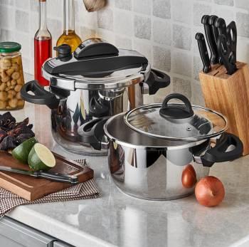 - Cookfest Premium 4,5 lt - 8 lt Düdüklü Tencere Seti