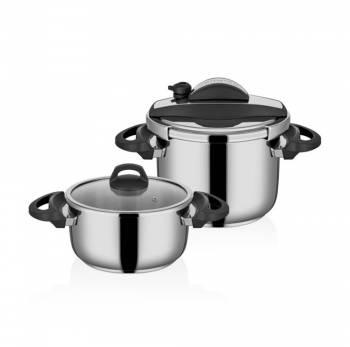 - Cookfest Premium 4,5 lt - 8 lt Düdüklü Tencere Seti (1)