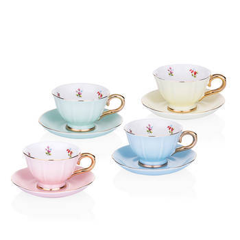 Daimon 4 Kişilik Porselen Kahve Fincanı Seti - Mint Yeşili - Thumbnail