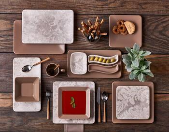 Damask Vizon Stoneware Yemek Tabağı - Thumbnail