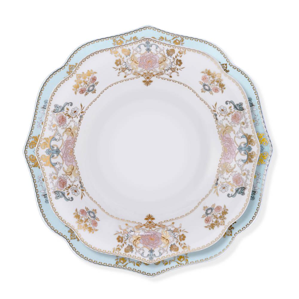 Diana 12 Kişilik 70 Parça Royal Bone China Yemek Takımı