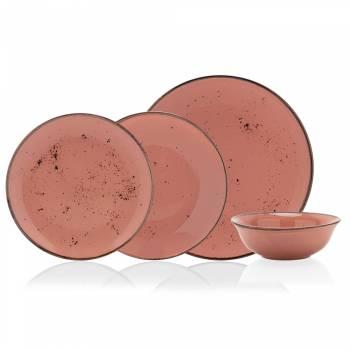 - Dione 24 Parça Yemek Takımı - Somon