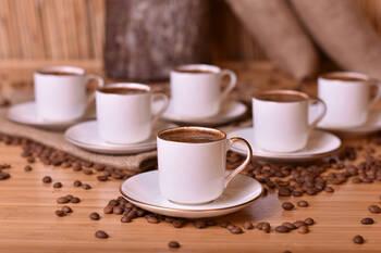 - Diva 6 Kişilik Kahve Fincan Takımı - Altın Yaldızlı Bambum