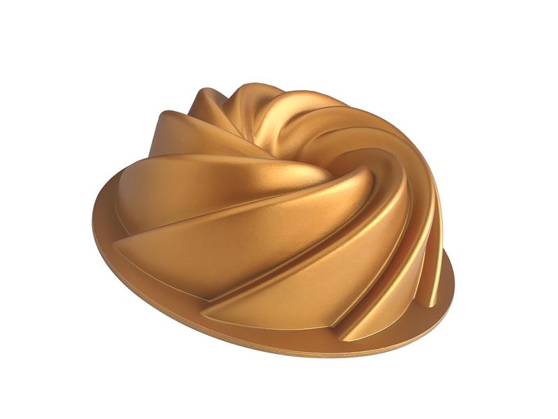 Döküm Kek Kalıbı - Gold