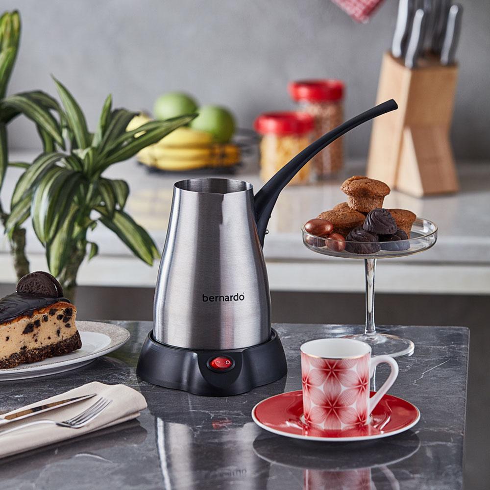 Elektrikli Cezve Türk Kahve Makinesi Çelik - 400 ml