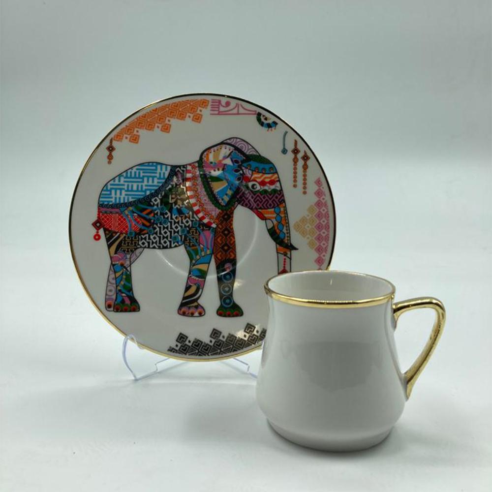 Elephant 6 Kişilik Türk Kahve Fincan Takımı