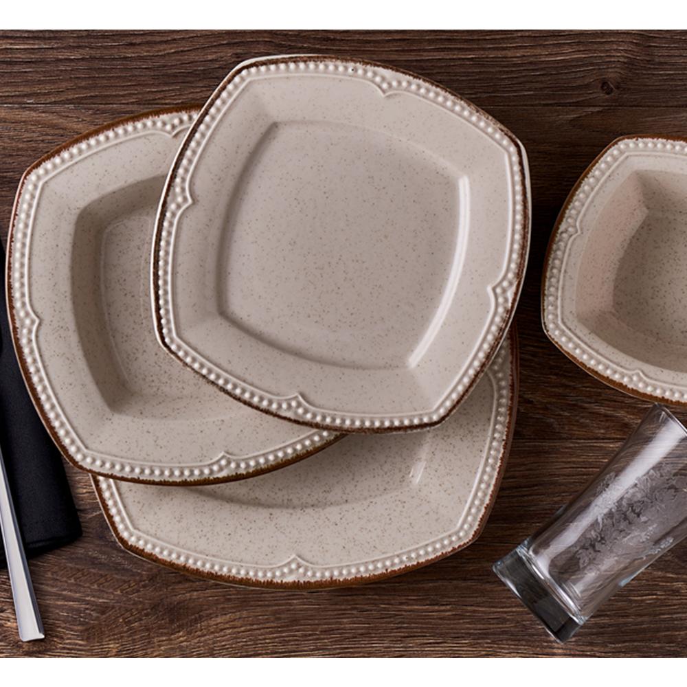 Elista 6 Kişilik 24 Parça Stoneware Yemek Takımı