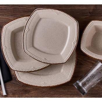Elista 6 Kişilik 24 Parça Stoneware Yemek Takımı - Thumbnail