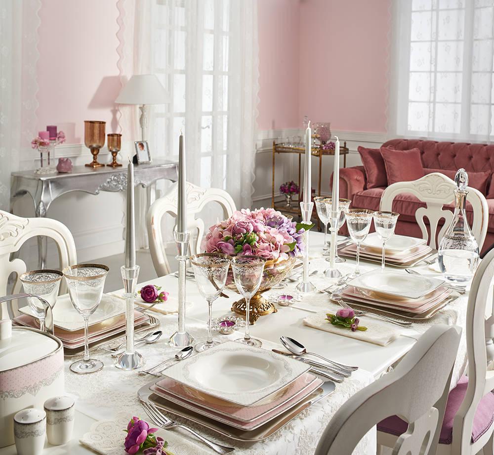 Bernardo Emily Pink Yemek Takımı