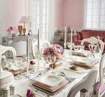 - Bernardo Emily Pink Yemek Takımı