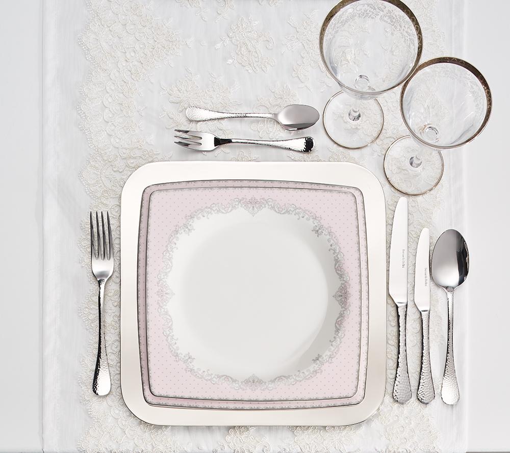 Emily Pink 70 Parça Yemek Takımı