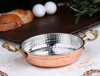 MRŞ-ÖZ METAL BAKIR - 2 No Bakır Yumurta Sahanı 17 Cm