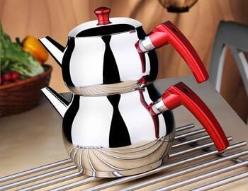 MRŞ-ŞELALEM ÇELİK - Aile Küre Çelik Çaydanlık