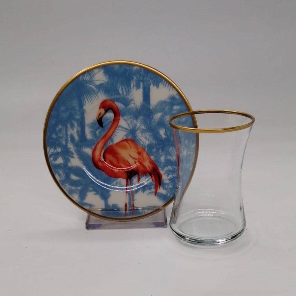 Flamingo 6 kişilik 12 Parça Çay Bardak Takımı