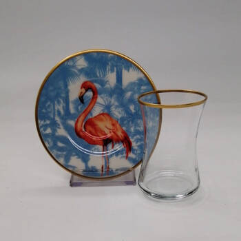 Flamingo 6 kişilik 12 Parça Çay Bardak Takımı - Thumbnail