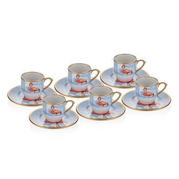Flamingo 6 kişilik 12 Parça Kahve Fincan Takımı - Thumbnail
