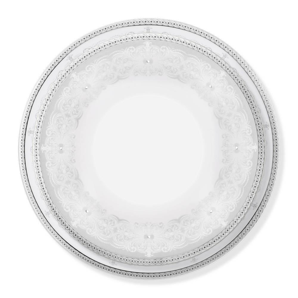 Garnier 12 Kişilik 70 Parça Royal Bone China Yemek Takımı