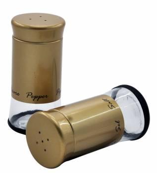 Gold Tuzluk Biberlik Seti - Thumbnail