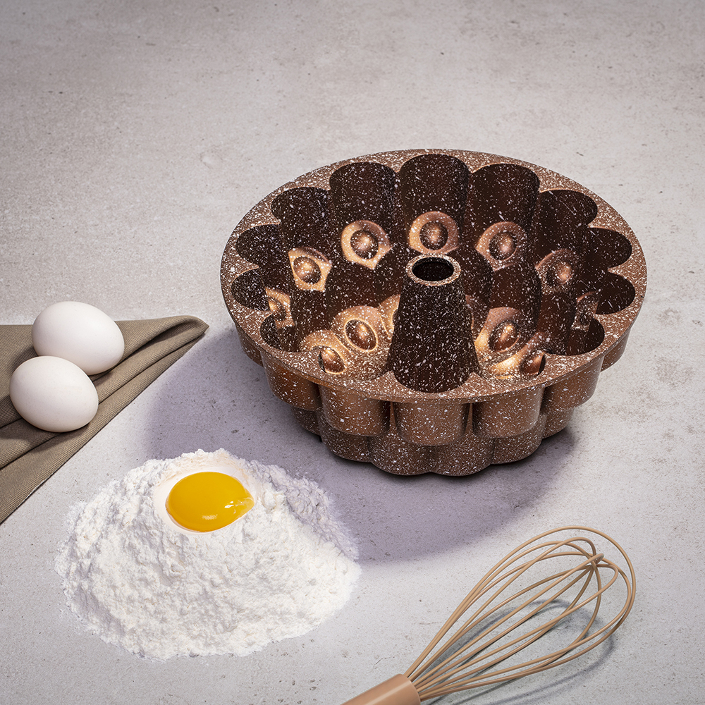 Kahverengi Granit Kek Kalıbı
