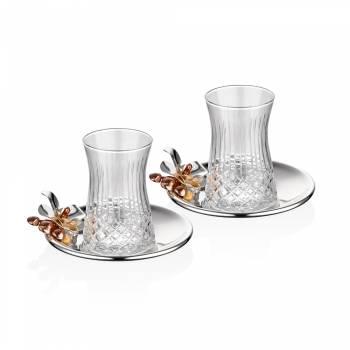 - Gümüş Orkide 2'Li Çay Seti