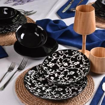 Hagia - 24 Parça Porselen Yemek Takımı - Thumbnail