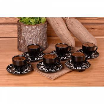 - Hagia - 6 Kişilik Kahve Fincan Takımı