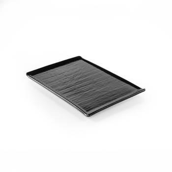 Bernardo - Hanes Siyah Stoneware Dikdörtgen Servis Tabağı - 24 cm